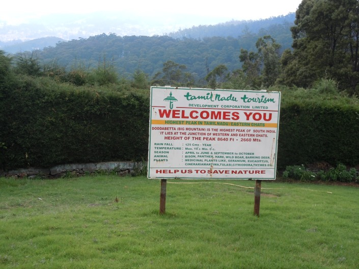 Doddabetta, the highest mountain in the Nilgiri Hills